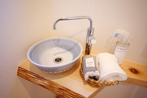 トイレの手洗いコーナー